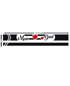 Voorkoms Mom Dad Hand Band Tattoo Men and Women Waterproof Temporary Body Tattoo