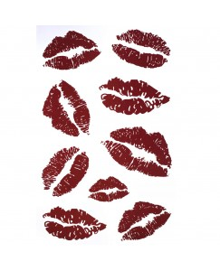 Voorkoms Lips Kiss Sign Temporary Body Tattoo V-123 Waterproof For Girls Men Women Tattoo Size 10.5 CM x 6CM - 1PC