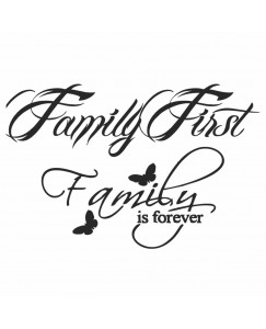 voorkoms family first family is forever body v-141 temporary tattoo size 11cm x 6 cm