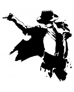 voorkoms michael jackson dance body v-173 temporary tattoo size 11cm x 6 cm