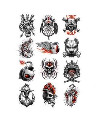 voorkoms 3d tattoo design combo body (V-220) temporary tattoo size 11 cm x 6 cm