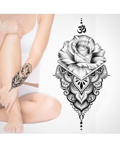 voorkoms AA-240 Rose om sign V-240 body tattoo Size 11 cm x 6 cm