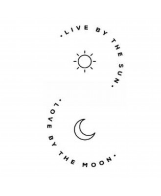 voorkoms Love by the sun & moon V-253 tattoo Size 11 cm x 6 cm