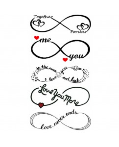 voorkoms AB-270 Infinity love Temporary tattoo Size 11 cm x 6 cm