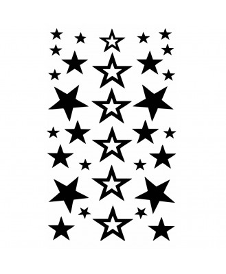 Voorkoms New Star Multicolor V-271 Temporary Tattoo Waterproof For Girls Men Women Size 11x6 cm