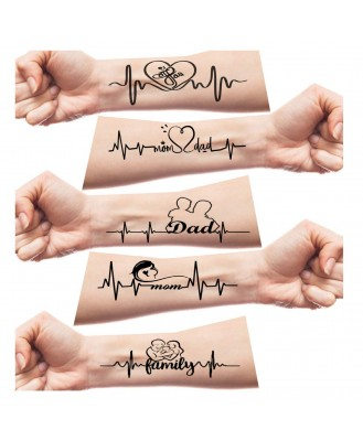 Voorkoms Mom Dad And Family For Girls Men Women Waterproof Temporary Tattoo V_281