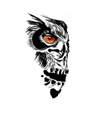 voorkoms AC-288 Owl Tattoo V-288 Temporary Tattoo Waterproof For Girls Men Women