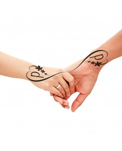 voorkoms Name P Letter Two Design V-313 Body Temporary Tattoo Waterproof For Girls Men Women Size 11x6 cm