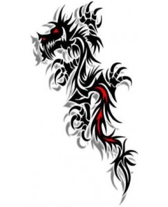 Voorkoms  Black Dragon Men and Women Temporary Body Tattoo V_465