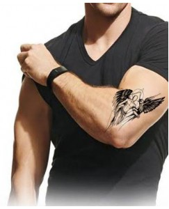 Voorkoms Angel With bird Men and Women Temporary Body Tattoo V_466