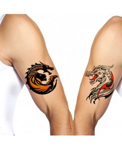 Voorkoms Chimera Integrations Men and Women Waterproof Temporary Body Tattoo V_472