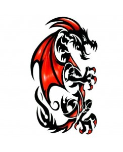 Tribal Dragon Men and Women Waterproof Temporary Body Tattoo  V_478