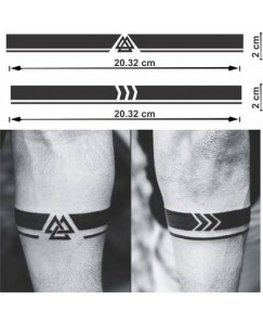 Voorkoms Viking Armband Hand Band Men and Women Waterproof Temporary Tattoo V_4B