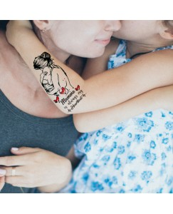 Mamma is always My Heart (Maa) Men and Women Waterproof Temporary Body Tattoo V_522