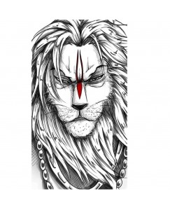 Voorkoms  Human with Tiger tattoo Men and Women Waterproof Temporary Body Tattoo V_530