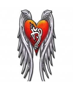 Voorkoms Heart With Wings Tattoo Waterproof Men and Women Temporary Body Tattoo