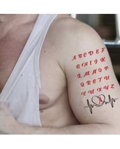 Voorkoms ABCD Name of Letter Tattoo Waterproof Men and Women Temporary Body Tattoo