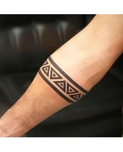 Voorkoms Triangle Hand band tattoo tattoo Men and Women Waterproof Temporary Body Tattoo  V_HB_8